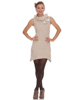 Divina Providencia Gepunktetes Kleid (Beige)