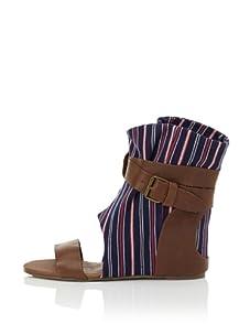 80%20 Women's Molly Open-Toe Boot (Navy)
