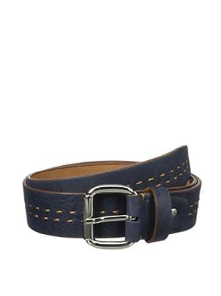 Bolliver Men's Center Stitch Belt (Navy/Camel)