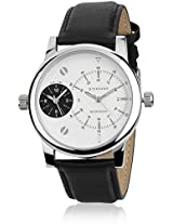 Giordano 60056 WH- P3055 Black / White Analog Watch