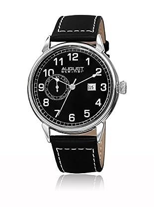 August Steiner Uhr mit schweizer Quarzuhrwerk  schwarz 44 mm
