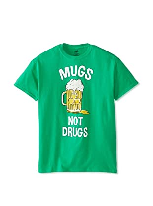 Chill Men's Mugs Not Drugs Crew Neck Tee (Irish Green)
