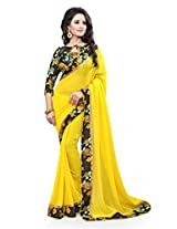 Shree laxmi creations Women's marble Solid & Printed Saree With Unstiched Blouse