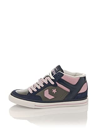 Converse Zapatillas Lady Weapon Mid Suede/Leather (Azul Marino / Lila)