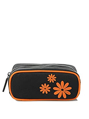 H.Due.O Necessaire Hippy Flowers Arancio