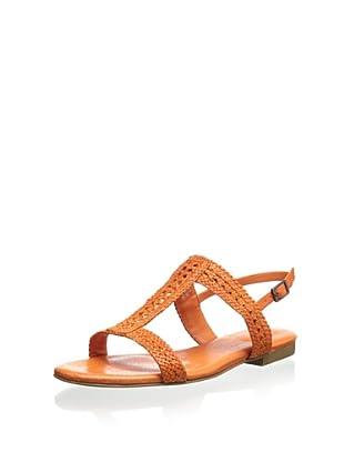 Rockport Women's Nahara H-Band Woven Sandal (Dark Orange)
