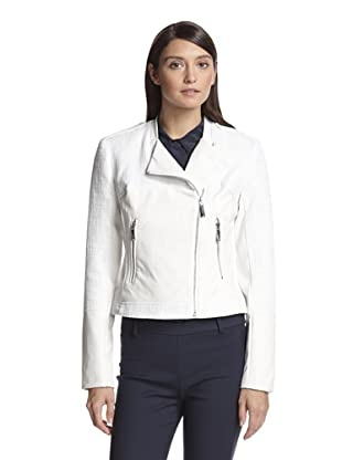 Vince Camuto Women's Faux Leather Combo Jacket (Off white)