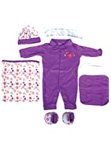 Mee Mee Pampering Gift for New Borns Combo Set (Purple)