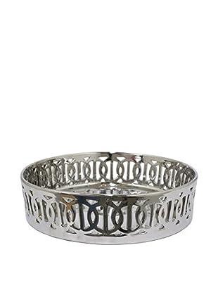 Three Hands Ceramic Geometric Tray, Silver