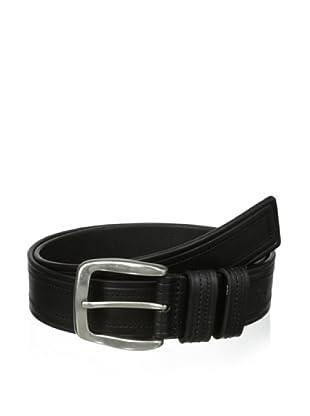 J.Campbell Los Angeles Men's Stitched & Embossed Belt (Black)