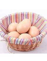 10PCS Artificial Emulation Toy Eggs DIY Painted Eggs House Decor(Size: L)