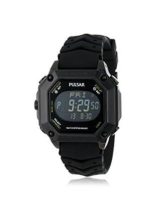 Pulsar by Seiko Men's PW3003 Black Rubber Watch