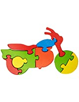 Skillofun Take Apart Puzzle Large - Motorcycle, Multi Color
