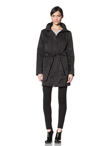 Rainforest Women's Belted Raincoat (Black)