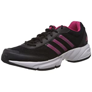 adidas Women's Alcor W Black and Pink Mesh Running Shoes - 4 UK