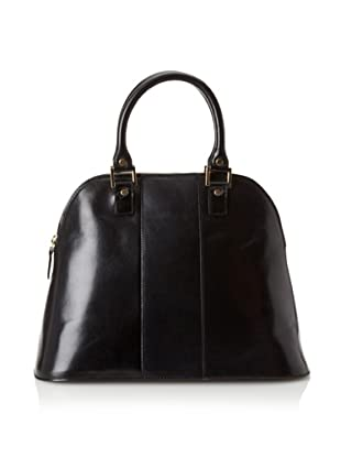 LaLucca Women's Rebekah Leather Satchel, Black