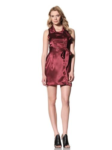 Twinkle by Wenlan Women's Spring Trench Dress (Garnet)