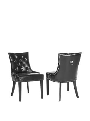 Safavieh Set of 2 Harlow Ring Chairs, Black
