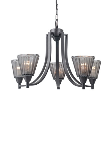 Royce Lighting Brixton Collection 5-Light Chandelier, Architectural Bronze