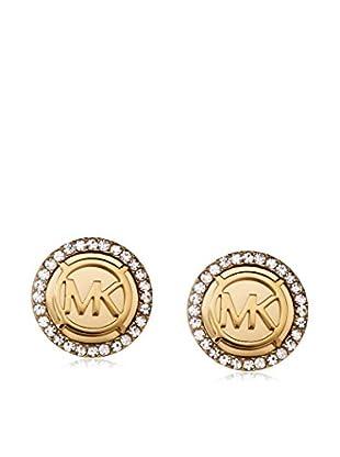 Michael Kors Monogram Pavé Logo Gold-Tone Earrings