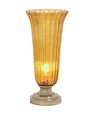 Glass & Metal Accent Light, Gold
