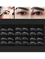 24Pcs Makeup DIY Eyebrow Stencils Shaping Model Templates Tool
