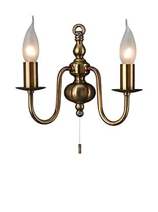 Massive Lámpara De Pared Adams Bronze Bronce