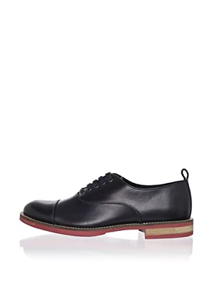 Swear Men's Chaplin 1 Leather Oxford (Navy Pull Up/Red Sole)