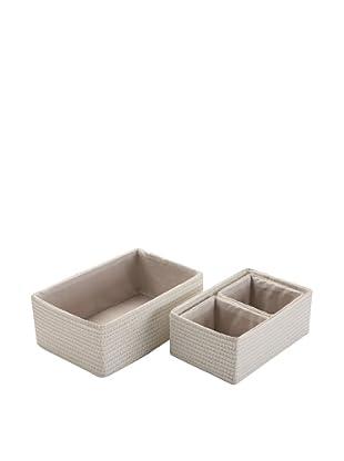 Zings Set 2 Cajas Rectangulares Blanca
