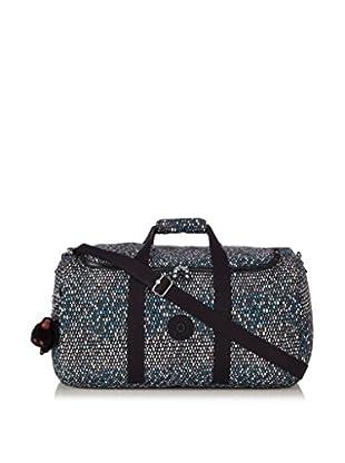 Kipling Reisetasche Duffle Azura schwarz/weiß