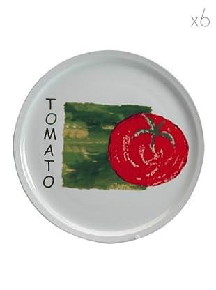 Table Set 6 Piatti Pizza Pomodoro 30 cm
