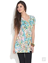 Button Down Floral Kurti