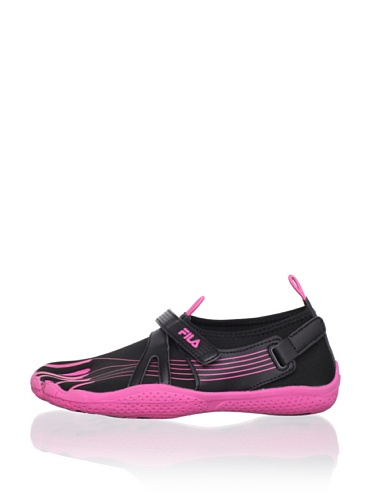 Fila Kid's Skele-Toes EZ Slide Shoe (Little Kid/Big Kid) (Black/Hot Pink)