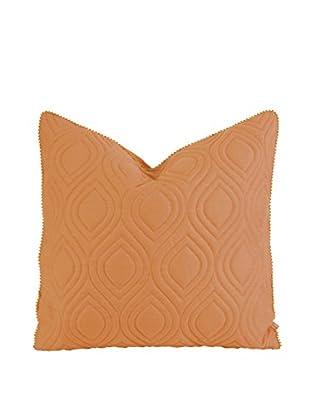 IK Kavita Linen Quilted Pillow, Orange