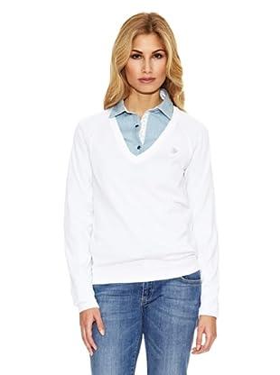 US Polo Assn Jersey Tejidos Combinados (Blanco)