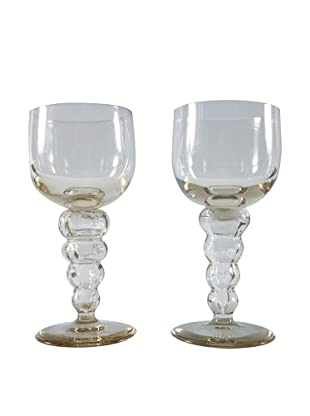 Pair of French Wine Goblets, Beige