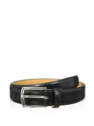 Leone Braconi Men's Soave Slim Belt (Black)