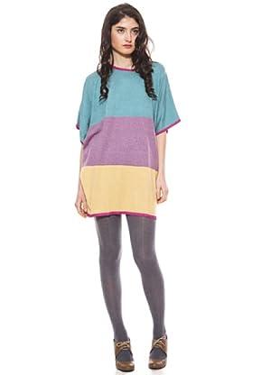 La Casita de Wendy Vestido Tricolor (azul/morado/amarillo)