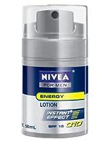 Nivea for Men Face Care Energy Lotion Q10, Spf15 1.7 Ounces