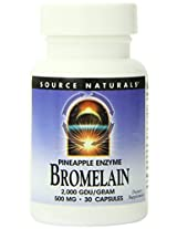 Source Naturals Bromelain, 500mg, 30 Capsules (Pack of 2)