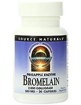 Source Naturals Bromelain, 500mg, 30 Capsules (Pack of 2)