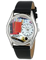 Whimsical Watches Women's S0450003 Book Lover Black Leather Watch