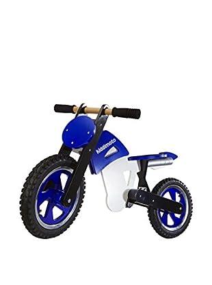 Kiddimoto Laufrad Scrambler Motocross blau/weiß