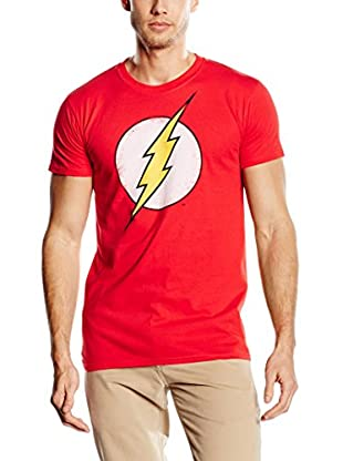 DC Comics T-Shirt Manica Corta Flash Distress