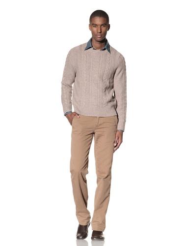 Billy Reid Men's Fisherman Sweater (Oatmeal)