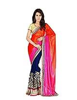 Wedding Blue Indian Saree Pakistani Embroidery Party Wear Sari