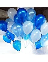 GrandShop 50329 Balloons Metallic HD Blue, White & Light Blue (Pack of 50)