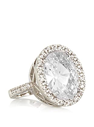 CZ by Kenneth Jay Lane 12 Cttw Oval Pavé CZ Ring
