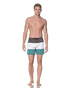 Rhythm Men's Tri Jam Swim Short (Black/White/Green)