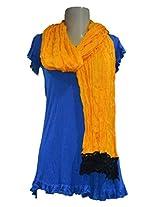 Sofias Exclusive Viscose Woven Medium Shawl,Size-70 cms x 200 cms,Color-Orange